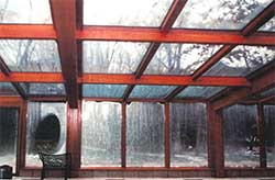 Example of condensation in an indoor pool room
