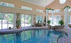 We custom design and engineer the dehumidification system for your pool room
