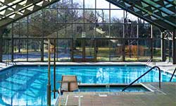 Glass pool room enclosure