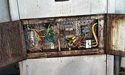Corrosion on pool room dehumidification equipment caused by poor pool chemistry