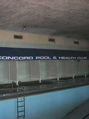 Uncontrolled humidity in health club forced the pool room to be shut down