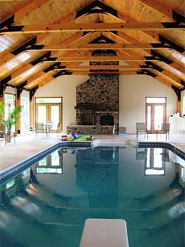 Humidity controlled indoor pool room